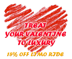 Valentine Day limo sale