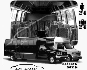 Bus for airport transfers in Houston, TX