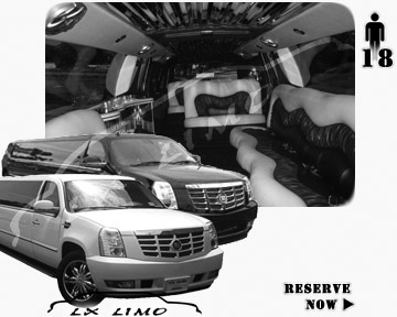 Cadillac Escalade 18 passenger SUV Limousine for rental in Houston, TX